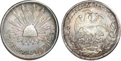 World Coins - Mexico. Republic. AR 4 Reales 1845 Zs-OM. XF