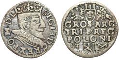 World Coins - Poland. Rzeczypospolita. Poznan. king Sigismund III. AR 3 Gross 1593, Fine+