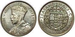World Coins - New Zealand. George V. AR Half Crown 1934. Choice AU