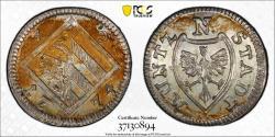 World Coins - Germany. City of Nurnberg. AR City Issue Kreuzer (4 Pfennig) 1709. PCGS MS64!