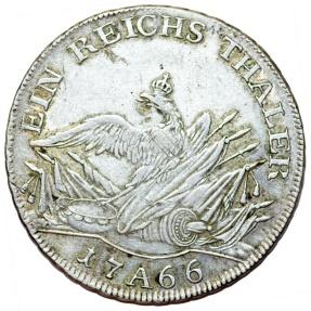 World Coins - Germany. Brandenburg-Prussia. Friedrich II (1740-1786). AR Thaler 1766 A. Nice VF.