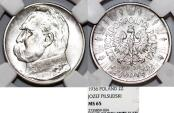 World Coins - Poland. II Republic (1918-1939). AR 2 Zloty 1936. EXTREME RARITY GRADE! NGC MS65!