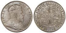 World Coins - Straits Settlements (Singapore/Malaysia). Edward VII (1901-1910). AR Dollar 1908. XF