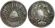 World Coins - Mexico. Republic. AR 8 Reales 1835 Zs oM. Choice VF, toned