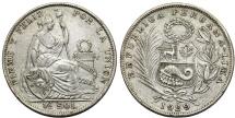 World Coins - Peru. Republic. AR 1/2 Sol 1929. XF