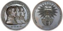 World Coins - Poland. krakow. Post November Uprising Issue. Bronze 56 mm Medal of three commissioners of the City of Krakow 1833. Nice AU