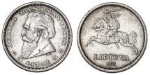 World Coins - Lithuania. AR 5 Litai 1936. XF
