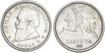 World Coins - Lithuania. AR 5 Litai 1936. AU+