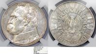 "World Coins - Poland. II Republic (1918-1939). Silver 10 Zloty 1934 ""Rifle Corp"". NGC AU50"