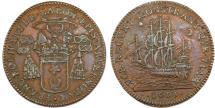 World Coins - France. Évêché de Clermont - François Bochart de Saron. AE Trade Jeton 1693. XF