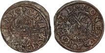 World Coins - Inflants (Latvia). Riga. City issue of Shilling 1577. Toned XF