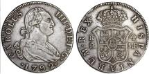 SPAIN, Reino de España. Carlos IV. 1788-1808. AR 4 Reales 1792 M-MF. Choice VF, toned