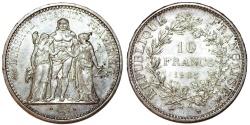 World Coins - France. Republic. AR 10 Francs 1965. UNC, toned
