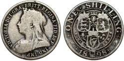 World Coins - Great Britain. Queen Victoria (1837-1901) AR 1 Shilling 1898. Fine+