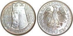 World Coins - Poland, P.R.L. 1952-1989. Ni 10 Zloty 1964. UNC