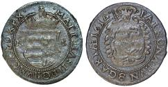 World Coins - Hungary/Transylvania. Emperor Mathias II. Scarce Silver Gross 1614 NB. Toned VF