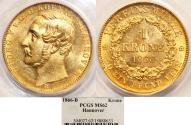 World Coins - Germany: Hannover. George V. Gold 1 Krone 1866 B. PCGS MS62