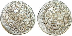 World Coins - Lithuania. Sigismund II Augustus (1546-1572). AR Half Gross 1559. XF
