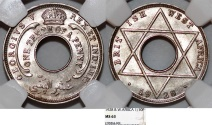 World Coins - British West Africa. George V. 1/10 Penny 1928. NGC MS63