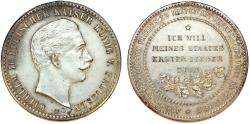 World Coins - GERMANY. Wilhelm II (1888-1918). AE36 Silver plated medal (no date). MIlitary Issue. Choice XF