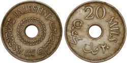 World Coins - British Administration. Palestine. CuNi 20 Mils 1935. VF