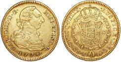 World Coins - Spain. Madrid. Carlos III (1759-1788). Gold 2 Escudos 1774 M-PJ. Good XF