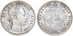 World Coins - Imperial Austria. Franzc I Josef (1848-1916). Silver Florin 1888. XF+