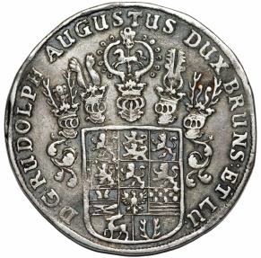 World Coins - Germany: Brunswick-Wolfenbuttel. Rudolph August (1666-1685). Silver Taler 1667. Choice XF, toned