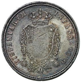 World Coins - Italy. Naples & Sicily. Ferdinando I de Bourbon (1816-1825). AR Mezzo Paistra of 60 Grana 1818. VF+