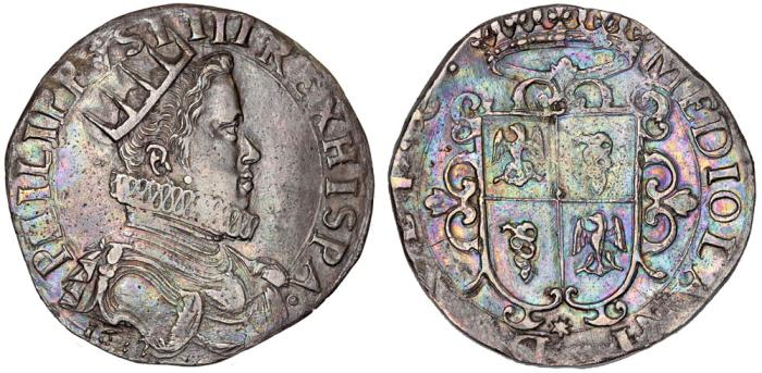 World Coins - Italy. Milan. Filippo IV di Spagna (1621-1665). AR Ducatone 1622. Very Nice VF. Scarce
