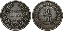 World Coins - Argentina. Province: Buenos Aires. AE 5/10=Medio Real 1827. About VF