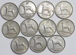 Ireland. Lot of 11 Coins: 6 pence 1928-1963 . XF-AU