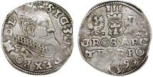 World Coins - Poland. Rzeczypospolita. Wschowa. king Sigismund III. AR 3 Gross 1599. About VF.