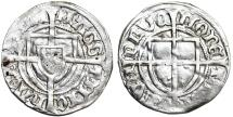World Coins - Teutonic Knight's Order. G-Master Michael I Kuchmeister (1414-1422). Silver Shilling ND. VF