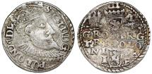 World Coins - Poland. Rzeczypospolita. Olkusz. king Sigismund III. AR 3 Gross 1598. About VF