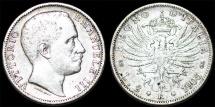 Kingdom of Italy. Vittorio Emanuelle III. Silver 2 Lire 1905 R. XF/VF