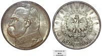 World Coins - Poland. II Republic (1918-1939). AR 10 Zloty 1939. NGC MS63