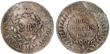World Coins - Argentina. Province: Buenos Aires. AE 2 Reals 1860. aVF, Scarce date