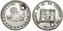 World Coins - Bolivia. Potosi. Silver 1-Sol-Sized Medal 1851, President Belzu. VF