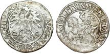World Coins - Lithuania (Union with Poland). Sigismund II Augustus (1546-1572). AR Half Gross 1559. VF