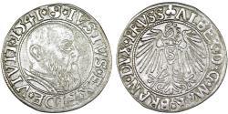 World Coins - Duchy of Prussia (Ex-Teutons State). Albrecht von Hohenzollern (1525-1568) Silver Gross 1542, VF