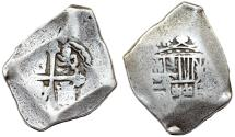 World Coins - Spanish Fleet of 1715. Mexico City, Mexico, cob 8 reales, Philip V, assayer not visible.
