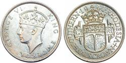 World Coins - British Southern Rhodesia. Silver ½ Crown 1941. Nice Choice XF/AU+, better date