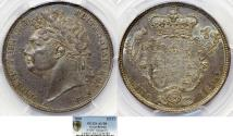 World Coins - Great Britain. George IIII (1820-1830). Silver Half Crown 1820. PCGS AU58, nicely toned.