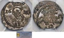 World Coins - Lithuania. G-Duke Sigismund III (1587-1632). AR Double Denarius 1620. NGC MS62!