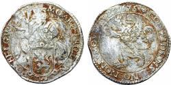 World Coins - Netherlands. West Friesland. AR Lion Daalder (48 Stuivers) 1675. Bold About VF.