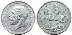 World Coins - Great Britain. George V. AR 1 Crown 1935. Choice XF/AU