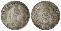 World Coins - Guatemala. AR 1/4 Quetzal 1926. AVF