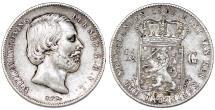 World Coins - Kingdom of Netherlands. Wilhelm II (1849-1890). AR 50 Cents 1863. Choice VF