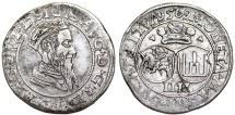 World Coins - Poland - Lithuania. G-Duke Sigismund II Augustus (1546-1572). Rare Silver 4 Gross 1569. Choice  VF